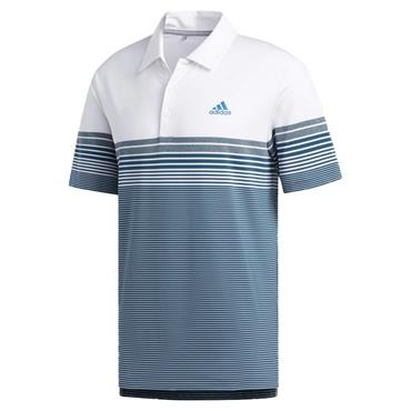 adidas Gents Ultimate365 Gradient Block Stripe Polo Shirt White