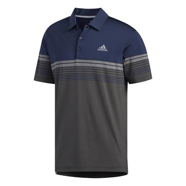 adidas Gents Ultimate365 Gradient Block Stripe Polo Shirt Navy