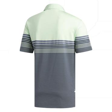 adidas Gents Ultimate365 Gradient Block Stripe Polo Shirt Glow Green