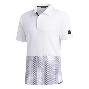 adidas Gents Adicross Novelty Print Polo Shirt White