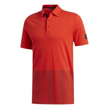 adidas Gents Adicross Novelty Print Polo Shirt Red