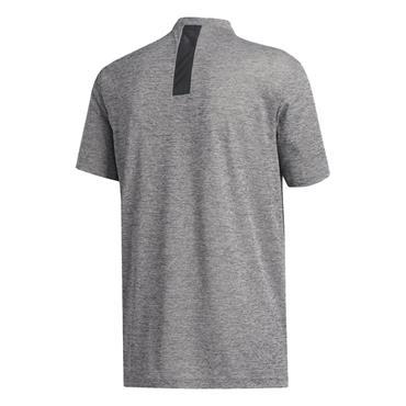 adidas Gents Adicross No Show Polo Shirt Black Melange