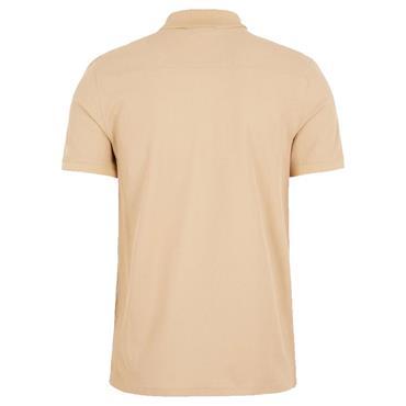 J.Lindeberg Gents Troy Pique Shirt Brown - Sheppard C075