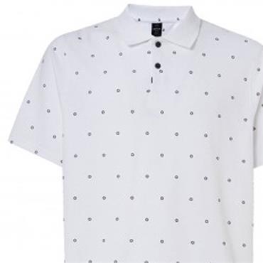 Oakley Gents Hexad TN Protect Polo Shirt White 100