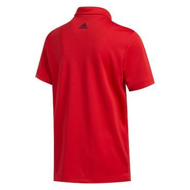 adidas Junior - Boys  3-Stripes Polo Shirt Collegiate Red