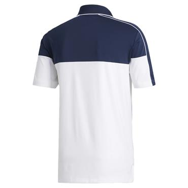 adidas Gents Ultimate 365 Stripe Polo Collegiate Navy - White