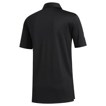 adidas Gents 3-Stripes Basic Polo Shirt Black - White