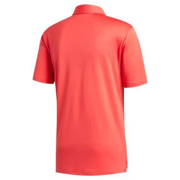 adidas Gents 3-Stripe Basic Polo Shirt Coral - Black