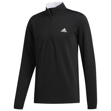 adidas Gents 3-Stripes Midweight Layering Sweatshirt ¼ Zip Black - Grey