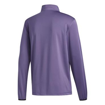 adidas Gents 3-Stripe Midweight Layering ¼ Zip Top Violet