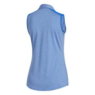 adidas Ladies Ultimate365 Sleeveless Polo Shirt Glory Blue Mel