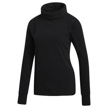 adidas Ladies Fleece Mock Neck Pullover Black