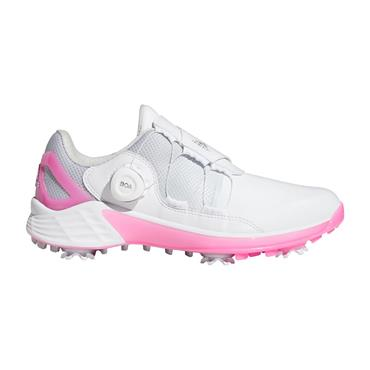 adidas Ladies Performance ZG21 BOA Shoes Cloud White - Silver Metallic - Screaming Pink