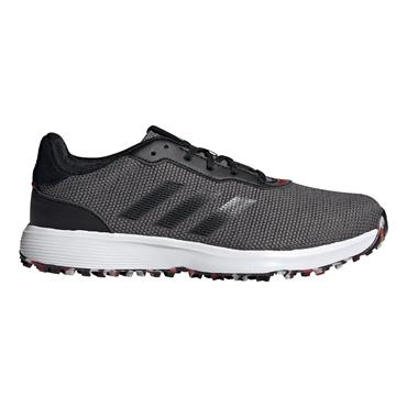 adidas Gents S2G Spikeless Shoes Grey Four - Core Black - Scarlet