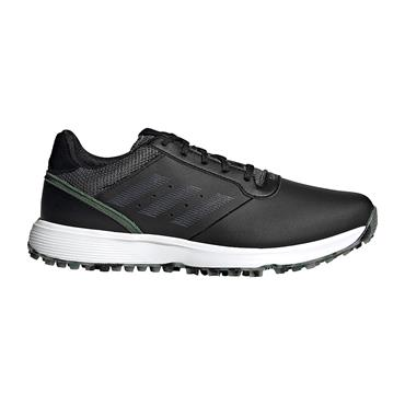 adidas Gents S2G Spikeless Leather Shoes Core Black - Grey Five -  Green Oxide