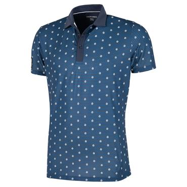 Galvin Green Gents Monty V8+ Shirt Navy - White