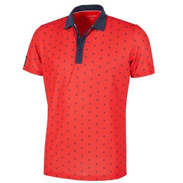 Galvin Green Gents Monty V8+ Shirt Red - Navy