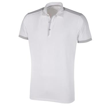 Galvin Green Gents Marcus V8 Polo Shirt White - Cool Grey