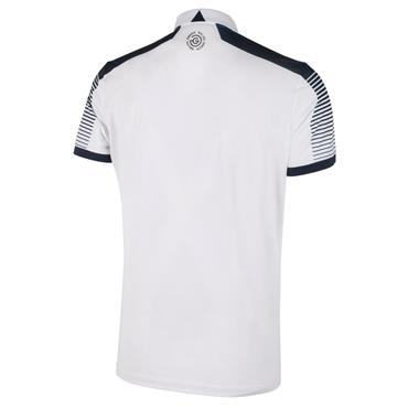Galvin Green Gents Marcus V8 Polo Shirt White - Navy
