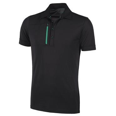 Galvin Green Gents Morton Ventil8+ Polo Shirt Black - Green