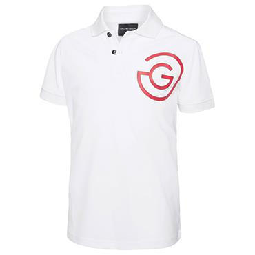 Galvin Green Ray Junior - Boys Ventil8 Polo Shirt White - Gunmetal - Red