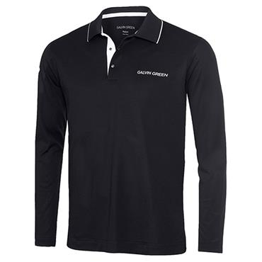 Galvin Green Gents Marc Long Sleeve V Shirt Black - White