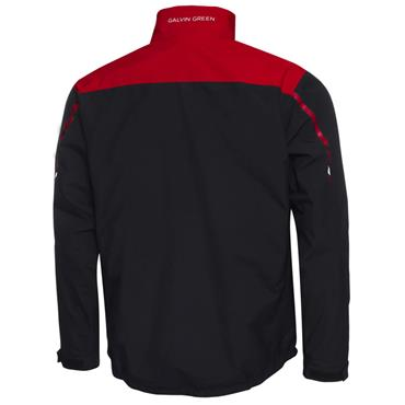 Galvin Green Gents Austin Waterproof GORE-TEX Jacket Black - Red - Snow White