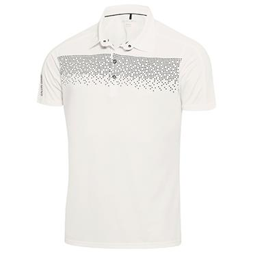 Galvin Green Gents Marcel Polo Shirt Snow White - Navy