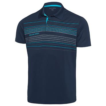 Galvin Green Gents Mateo Polo Shirt Navy - River Blue - White Snow