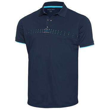 Galvin Green Gents Milo Polo Shirt Navy - River Blue - Snow White