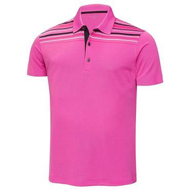 Galvin Green Gents Melwin Ventil8+ Polo Shirt Magenta - Black