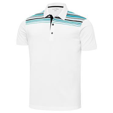 Galvin Green Gents Melwin Ventil8+ Polo Shirt White - Bluebird