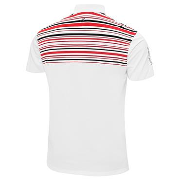 Galvin Green Gents Melwin Ventil8+ Polo Shirt White - Red