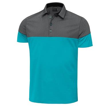 Galvin Green Gents Milton Ventil8+ Polo Shirt Bluebird - Black