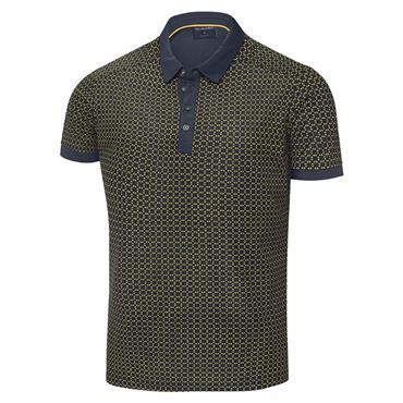 Galvin Green Gents Monte Ventil8+ Polo Shirt Navy - Lemon