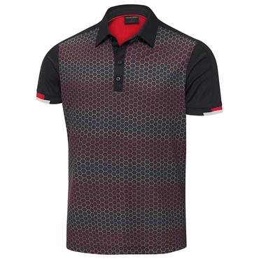 Galvin Green Gents Myles Ventil8 Plus Polo Shirt Black - Red