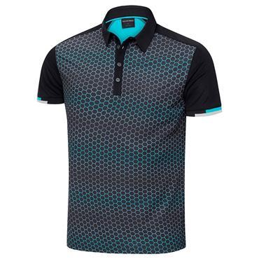 Galvin Green Gents Myles Ventil8 Plus Polo Shirt Black - Bluebird