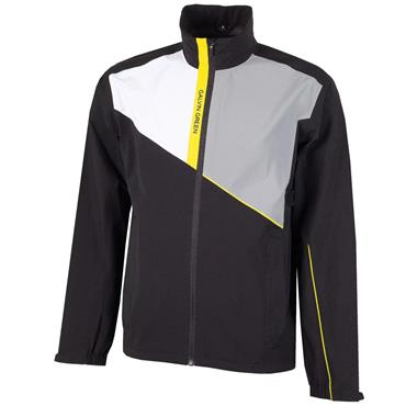 Galvin Green Gents Apollo GORE-TEX Paclite Jacket Black - White - Sharkskin Yellow