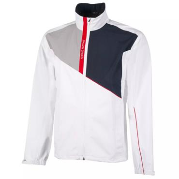Galvin Green Gents Apollo GORE-TEX Paclite Jacket White - Navy - Cool Red