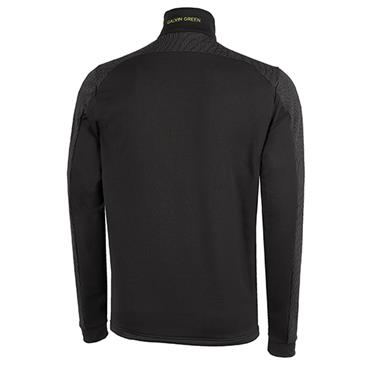 Galvin Green Gents Dwight 1/2 Zip Insula Black - Lime