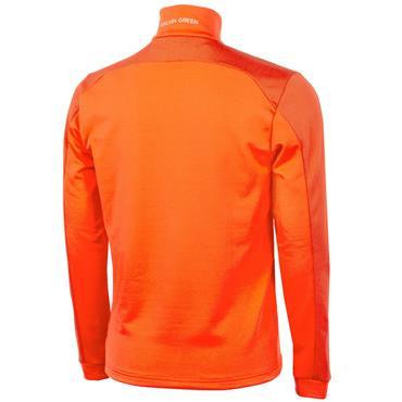 Galvin Green Gents Dwight Half Zip Insula Red Orange - White
