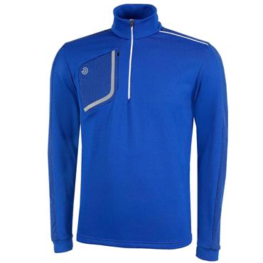 Galvin Green Gents Dwight 1/2 Zip Insula Surf Blue - White