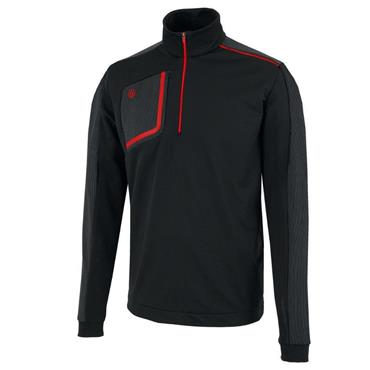 Galvin Green Gents Dwight 1/2 Zip Insula Pullover Black - Red