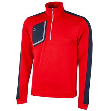 Galvin Green Gents Dwight 1/2 Zip Insula Red - Navy - White