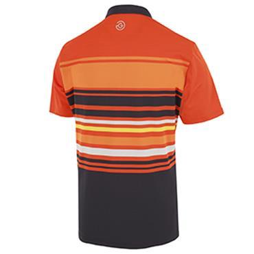 Galvin Green Gents Miguel Shirt V8 Rusty - Orange - Navy