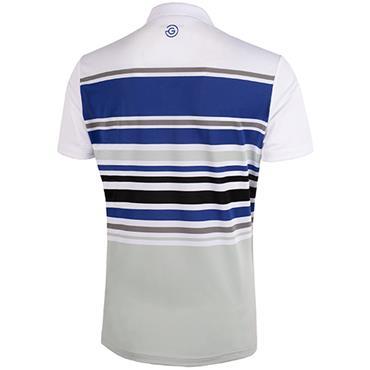 Galvin Green Gents Miguel Shirt V8 White - Sharkskin - Navy