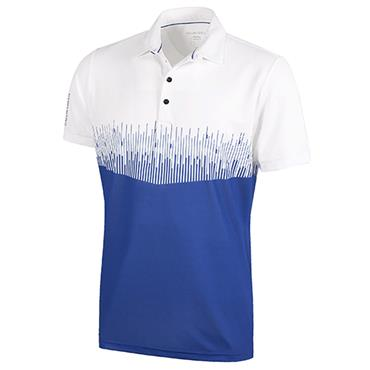 Galvin Green Gents Moss Shirt V8+ White - Surf Blue