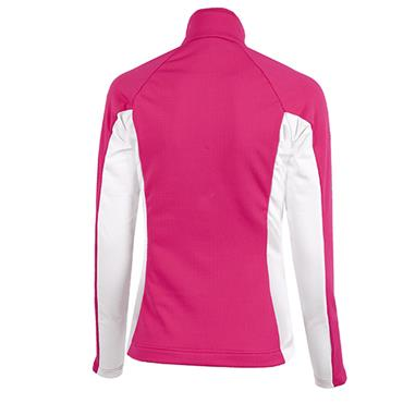 Galvin Green Ladies Davina Zip Insula Sweater Deep Pink - White