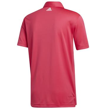 adidas Gents 3 Stripe Basic Polo Power Pink
