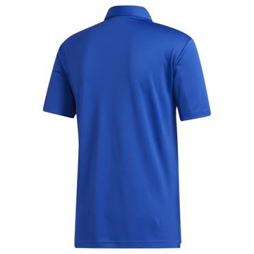 adidas Gents Colorblock Novelty Polo Shirt Royal Blue - Grey 3 Melange